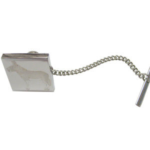 Silver Toned Etched Donkey Tie Tack